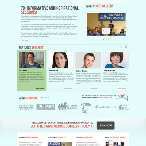 New website design wanted for Animal Rights National Conference 2013 Website