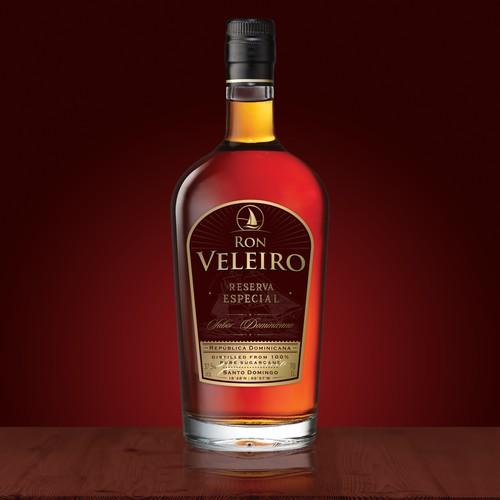 Luxurious rum label design