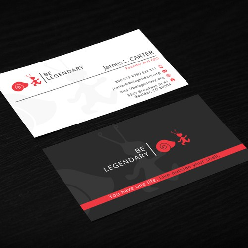 Business card for Be Legendary