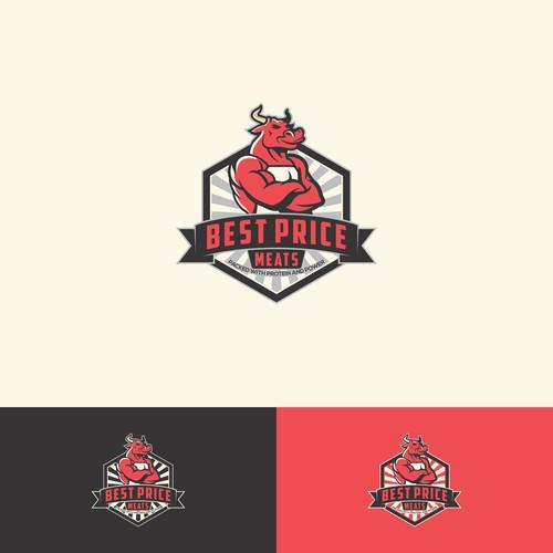 butcher logo concept with bull illustrator