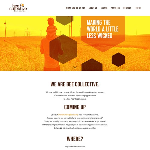 Squarespace website for NGO