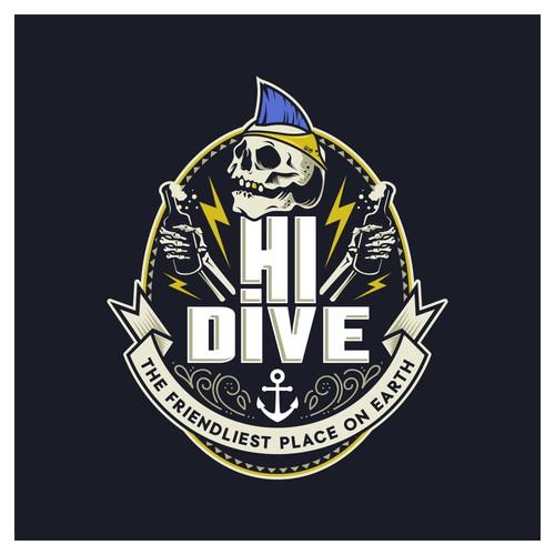 HI DIVE logo