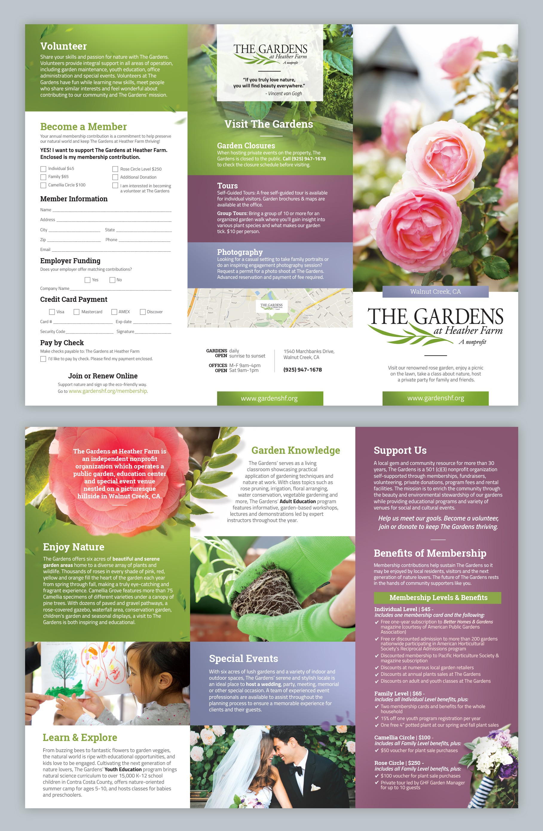 Design a vibrant brochure to help a nature-oriented nonprofit attract visitors and raise funds!