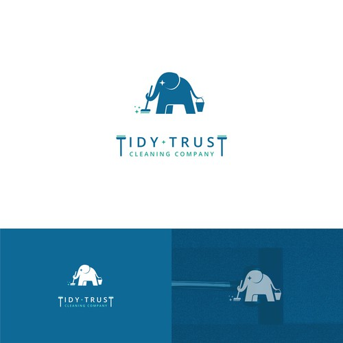 Character logo design for clening company.