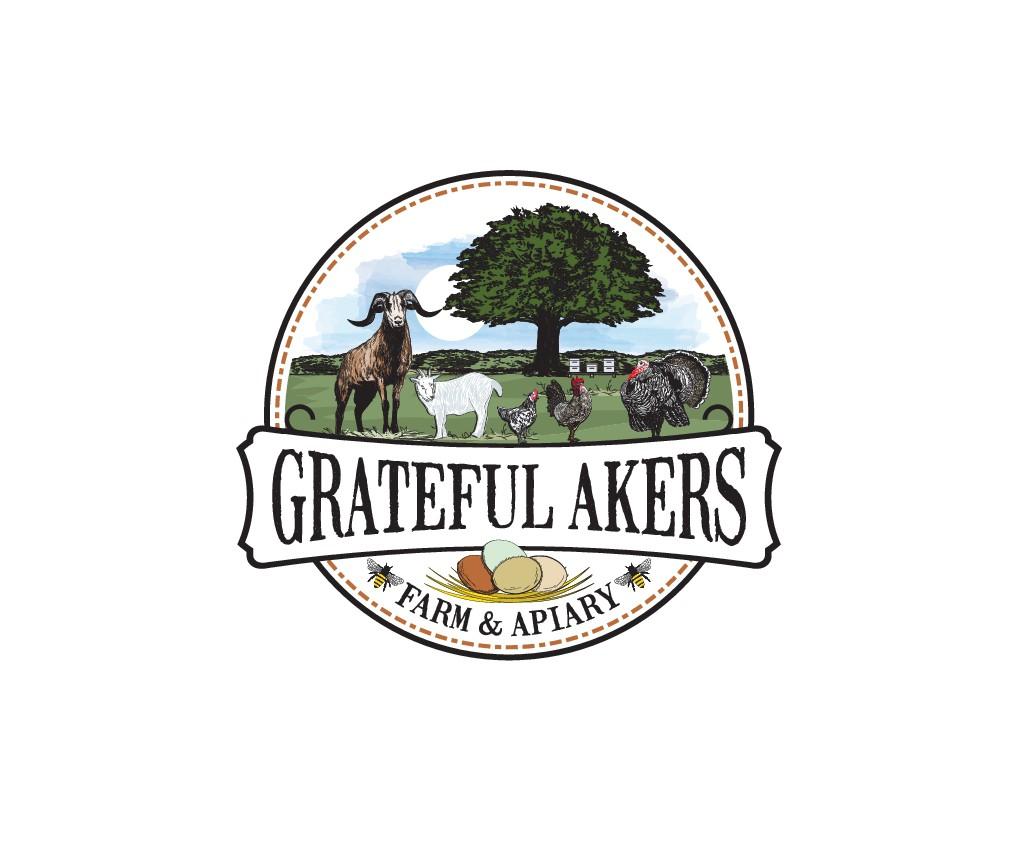 logo for Grateful Akers Farm & Apiary
