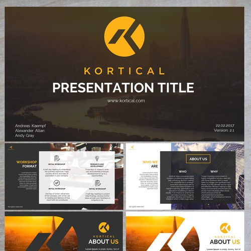 Presentation Design for KORTICAL