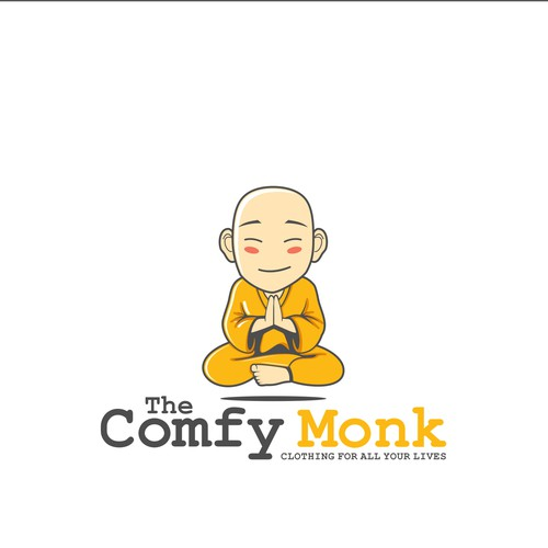 logo for the comfy monk