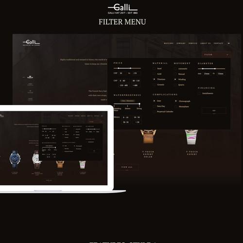 Website updates Galli watches