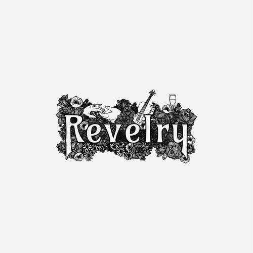 Lush Revelry Logo design