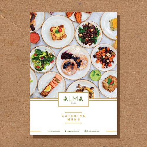 Cover for menu book