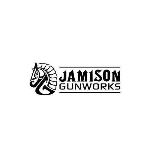 Horse armored logo