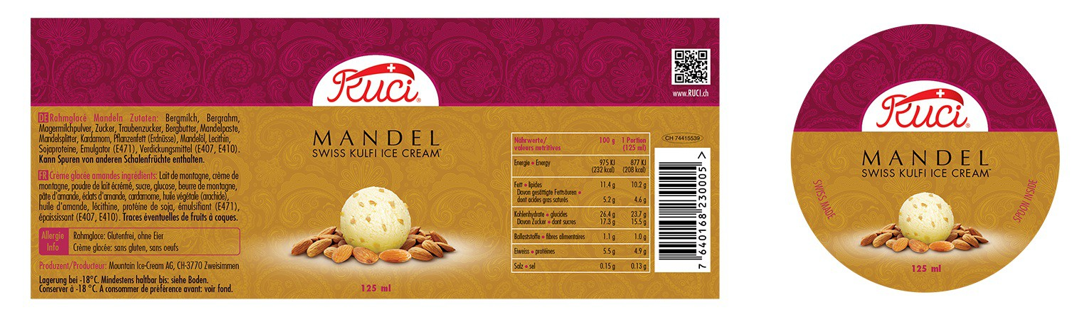 Ruci Ice  Cream - Labels Adaptation