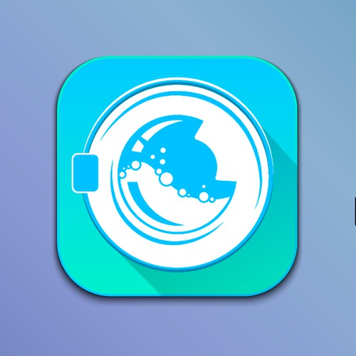 icon for an app for laundry called 1ClickWash