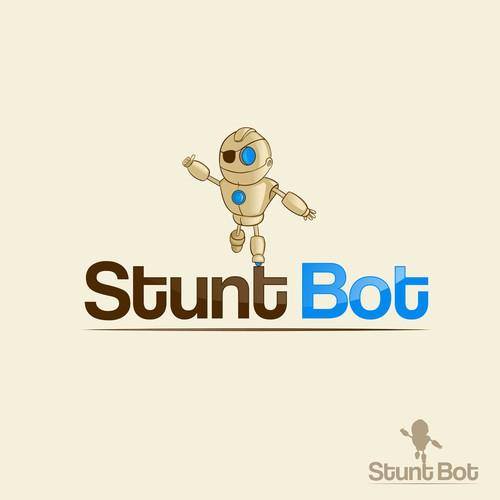 Mascot and Logo design for Stunt Bot, Entertainment Studio