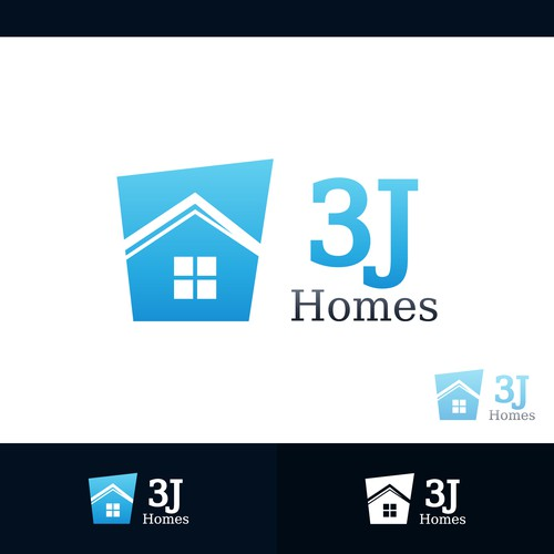Concept logo designed for 3J Homes