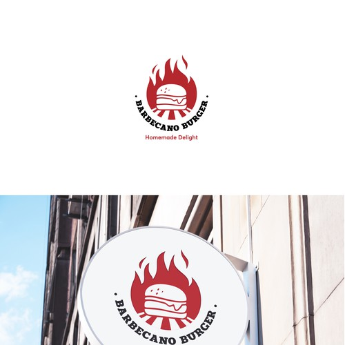 Barbecue Burger Restaurant Logo