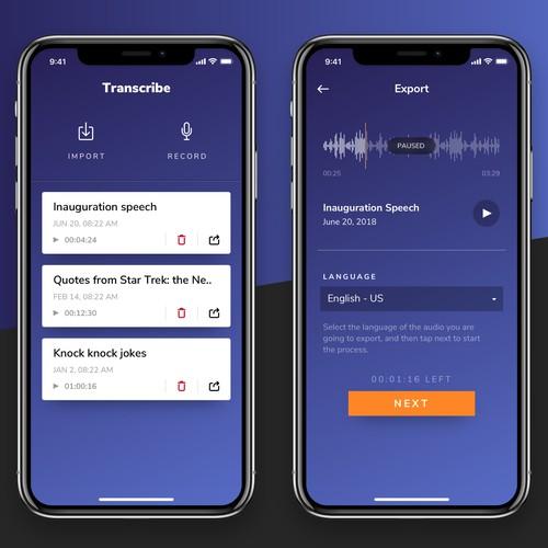 Transcribe app