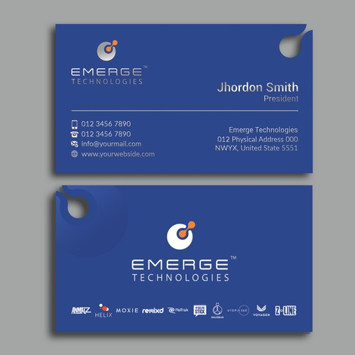 Design An Eye-Catching Business Card for Emerge