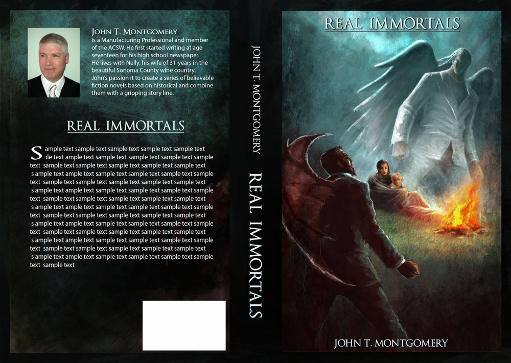 Help design a new Fiction Series book cover - Real Immortals