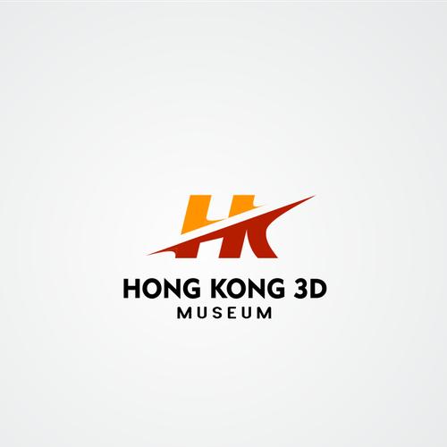 Create a Trick art illustration Logo for Hong Kong 3D Museum