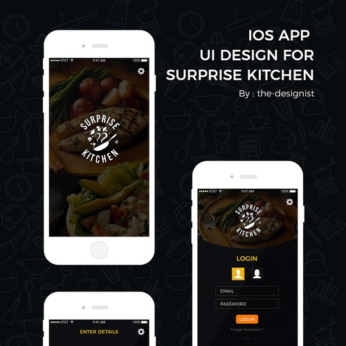 "iOS Application design for ""Surprise Kitchen"""