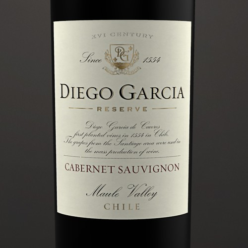 Logo and label for the Chilean wine