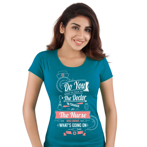 Text Based Shirt For Nurses