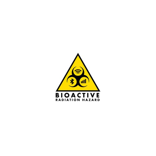 clean, to the point logo for bioactive radiation hazard