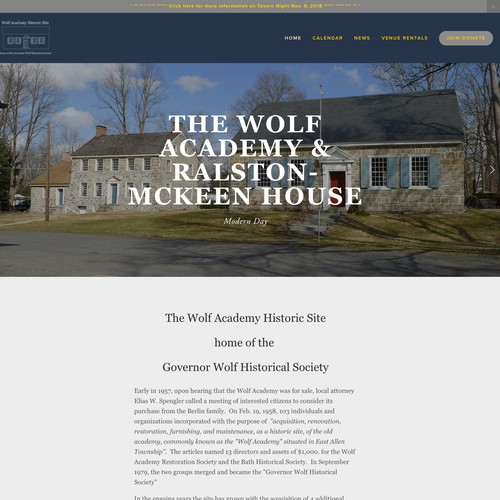 Governor Wolf Historical Society