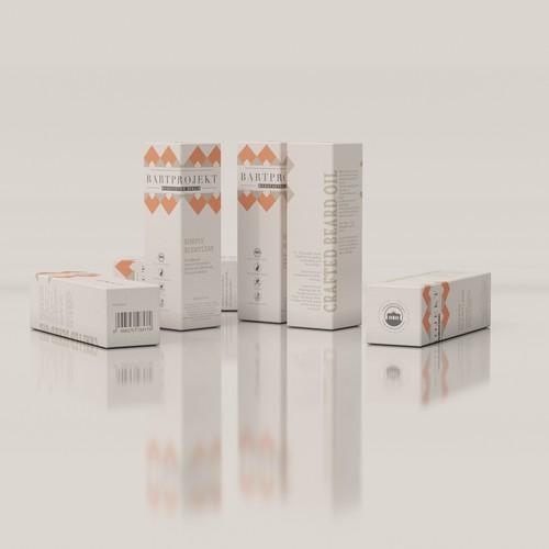 Packaging design for beard oil