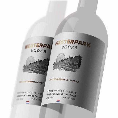Vodka Bottle Label Design