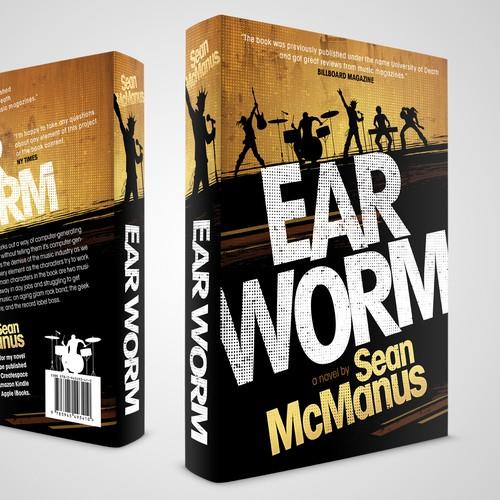 Book cover design for a rock novel