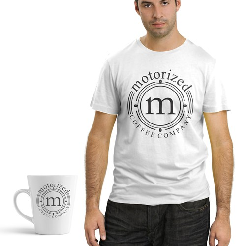 Create a new spiVersatile swag design for Motorized Coffee Companyn on an existing logo for our Internet Lookup Site
