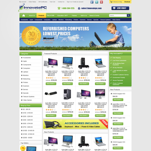 innovatepc.com needs a new website design