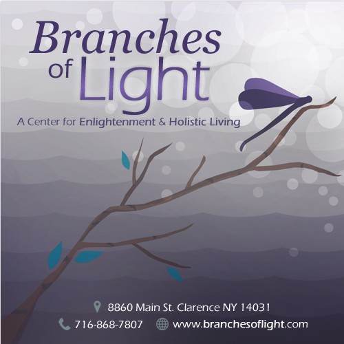 Branches of Light calling cards design