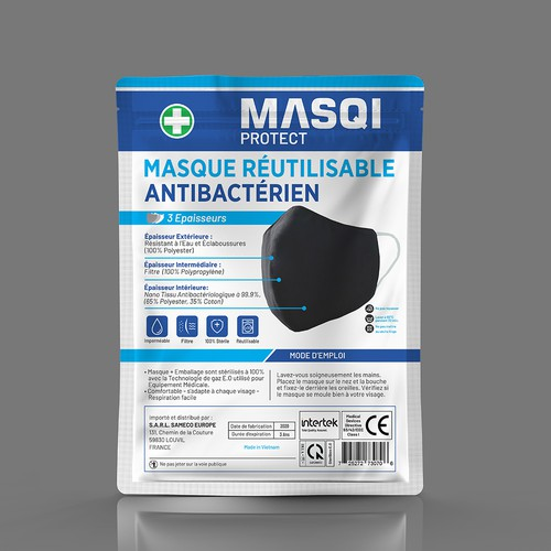 High-Quality Protective Mask Label - Sterile Packaging