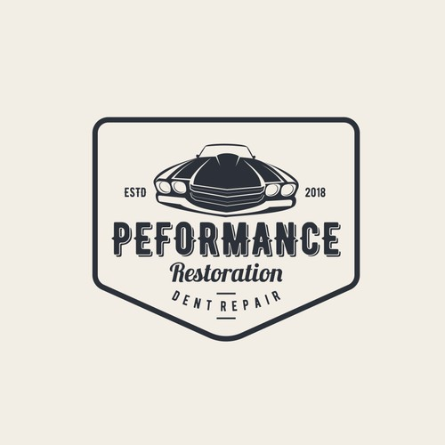 Logo for PERFORMANCE restoration dent repair