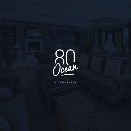 Typographic logo for 80 Ocean