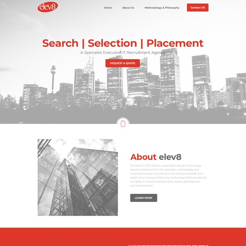 Website design for elev8