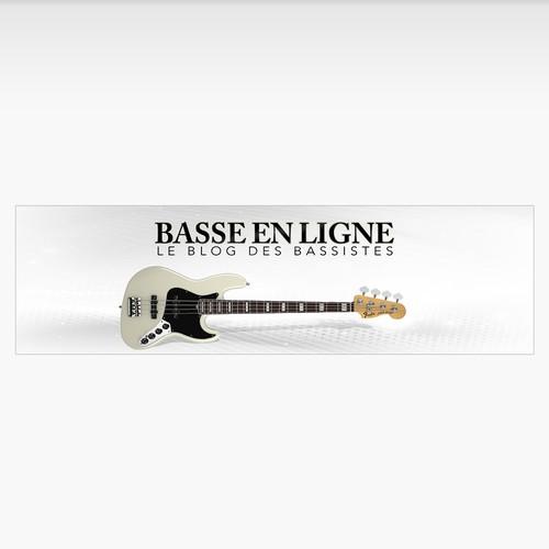 Bannière Simple pour un blog des bassistes