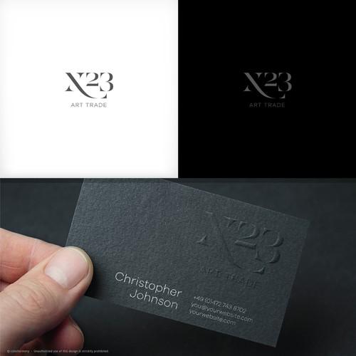 Logo & Business Cards design for fine art trade / gallery / art advisory.