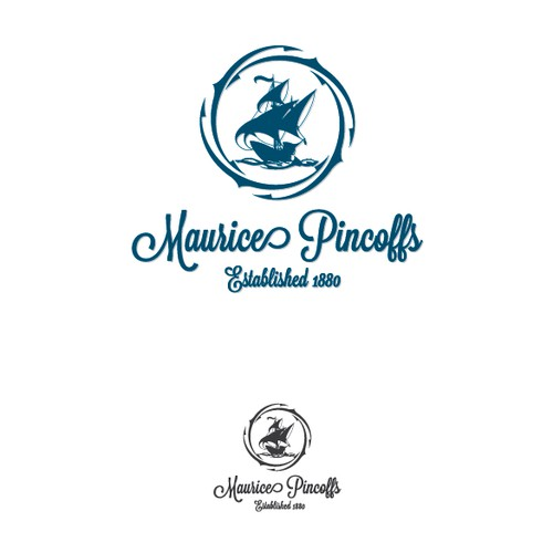 Create a logo and brand package for Maurice Pincoffs.