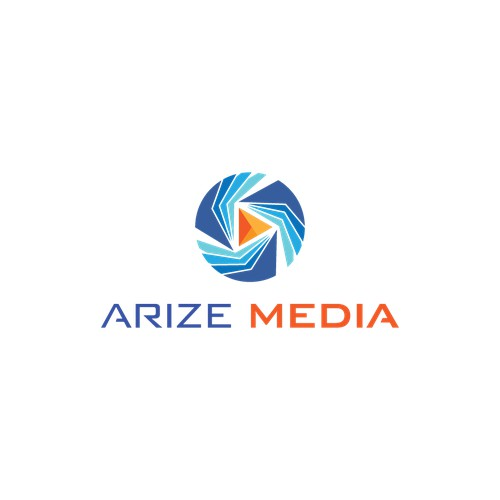 Create an Inspiring, adaptive, versatile logo for Arize Media/Arize News/Arize Health/Arize Fashion