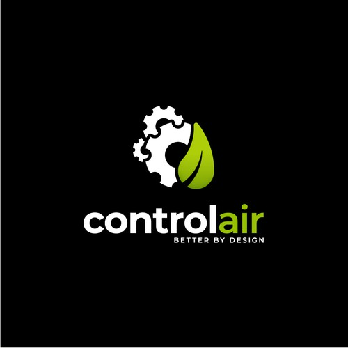Eco friendly logo for air conditioning.
