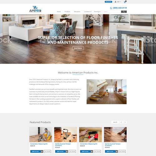 Hardwood Flooring E-Commerce Website