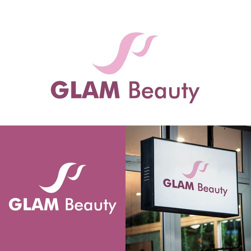 abstract logo mark for GLAM Beauty