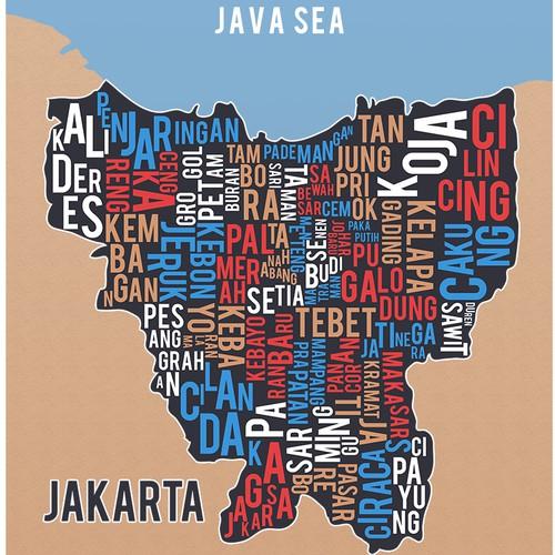 Jakarta Map Illustration
