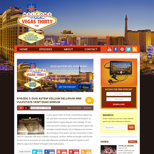 New website design wanted for TheVegas30.com