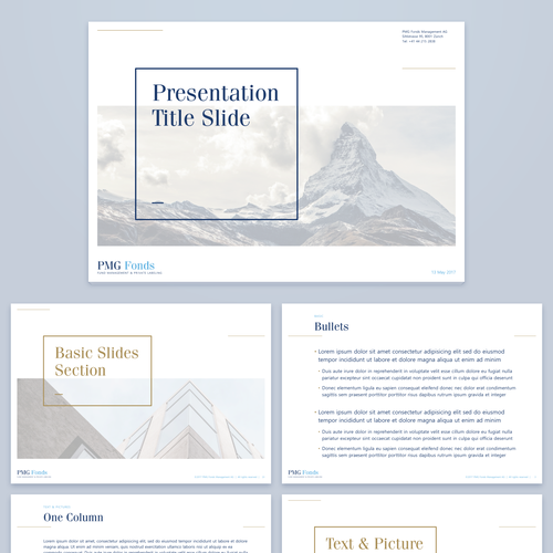 Fund Management Company Presentation Template