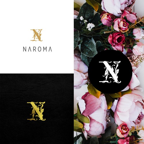 Luxurious and high class perfume candle logo for Naroma